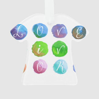 Hand-Painted Watercolor Circles Colorful Rainbow