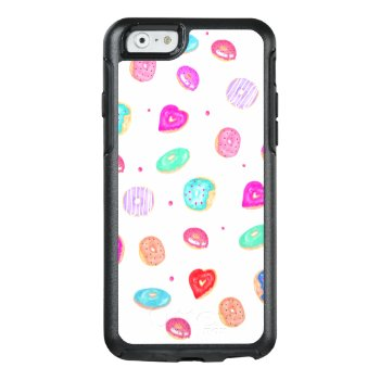 Hand Painted Watercolor Donuts Sprinkles Pattern Otterbox Iphone 6/6s Case by girly_trend at Zazzle
