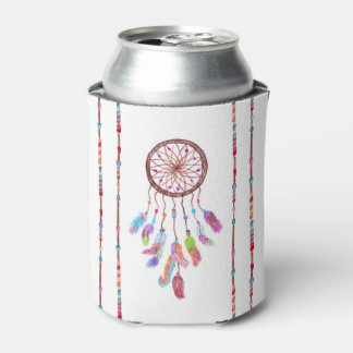 Hand Painted Watercolor Dreamcatcher Beads Feather Can Cooler