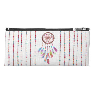 Hand Painted Watercolor Dreamcatcher Beads Feather Pencil Case