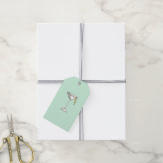 Hand Painted Watercolor Olive Martini Cocktail Gift Tags