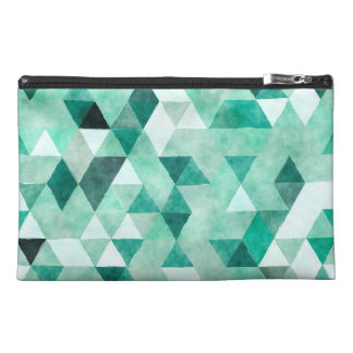 Hand painted watercolor Pattern Design. Travel Accessories Bags