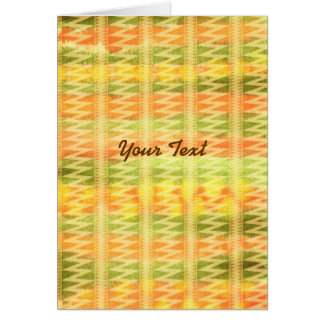 Hand-Painted Watercolor Stripes Pomo Zigzag Tribal Card
