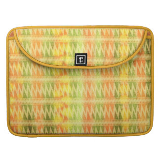 Hand-Painted Watercolor Stripes Pomo Zigzag Tribal Sleeves For MacBooks