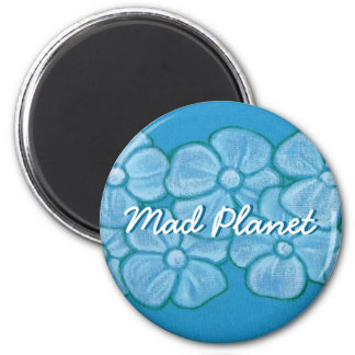 Hand Painted White Flowers Magnet