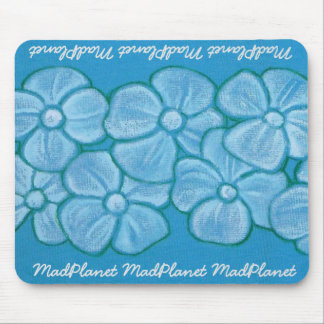 Hand Painted White Flowers Mouse Pad