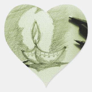Hand Painting 4 Heart Sticker