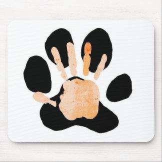 hand paw print mousepads