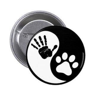 Hand Paw Yin Yang Pinback Button