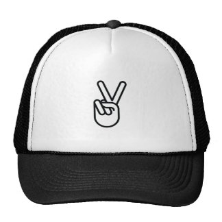 Hand Peace Sign Trucker Hat