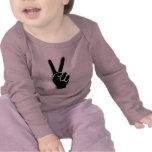 HAND PEACE SYMBOL T-SHIRTS