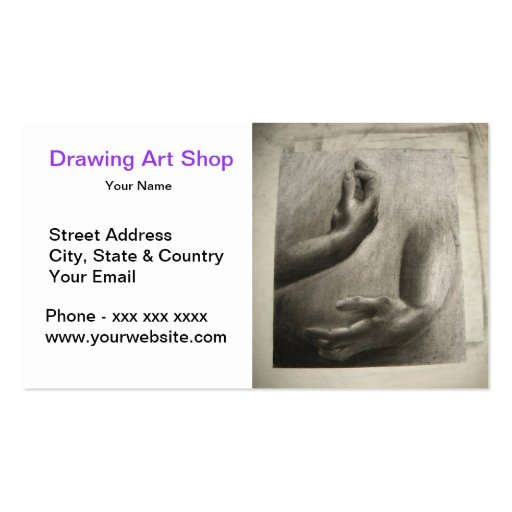 Hand Pencil Drawing Art Shop Double-Sided Standard Business Cards (Pack Of 100)