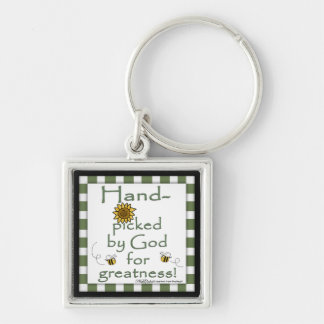 Hand-picked By God-Flower and Bee Keychains