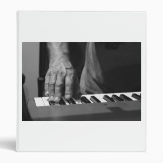 hand playing keyboard bw male music 3 ring binders