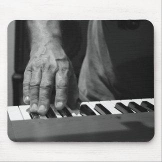 hand playing keyboard bw male music mousepads