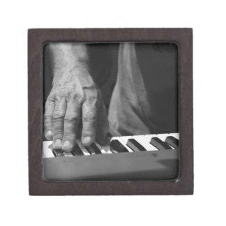 hand playing keyboard bw male music premium gift boxes