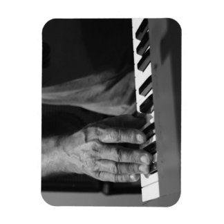 hand playing keyboard bw male music rectangular photo magnet
