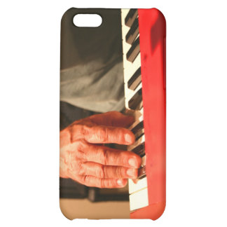 hand playing red keyboard male musician iPhone 5C cover