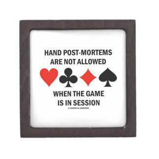 Hand Post-Mortems Are Not Allowed (Bridge Game) Gift Box