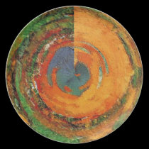 Hand Poured Paint Abstract plates