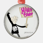 Hand Power Christmas Ornaments
