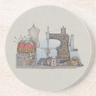 Hand Powered Sewing Machine Coasters