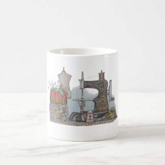 Hand Powered Sewing Machine Coffee Mug