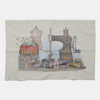 Hand Powered Sewing Machine Towel