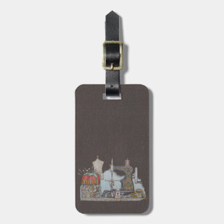 Hand Powered Sewing Machine Luggage Tag
