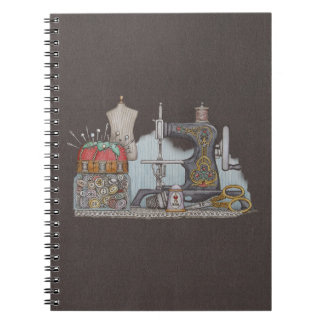 Hand Powered Sewing Machine Notebook