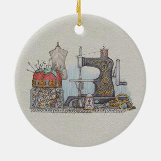 Hand Powered Sewing Machine Ornament