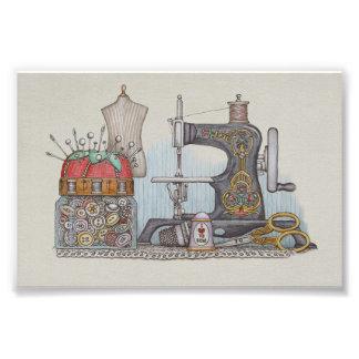 Hand Powered Sewing Machine Photo Print