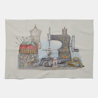 Hand Powered Sewing Machine Towel