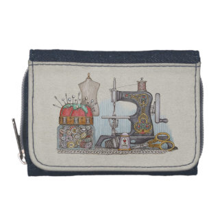 Hand Powered Sewing Machine Wallets