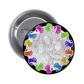 Hand Print Border Button