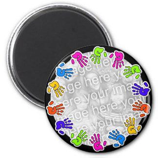 Hand Print Border Fridge Magnet