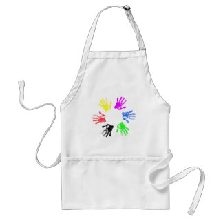 Hand print design adult apron