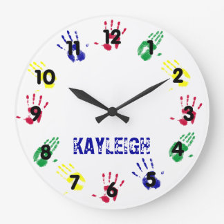 Hand Print Personalized Large Clock