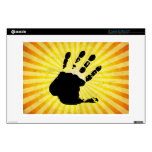 "Hand print; yellow 13"" laptop skins"