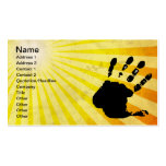 Hand print; yellow Double-Sided standard business cards (Pack of 100)