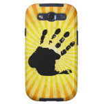 Hand print; yellow galaxy s3 covers