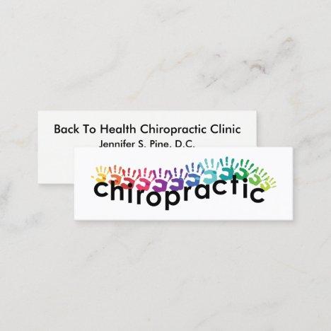 Hand Prints Chiropractic Mini Business Card