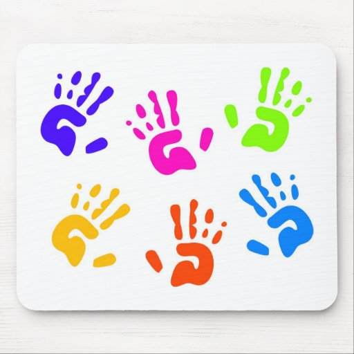 Hand Prints Mouse Mat
