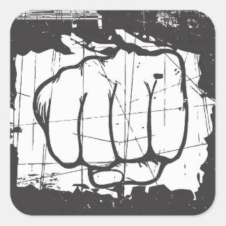 hand punching - sticker