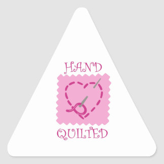 HAND QUILTED TRIANGLE STICKER