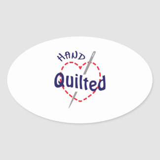 Hand Quilted Oval Sticker