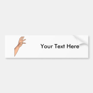 Hand Raised Hand Sign and Gestures Bumper Stickers