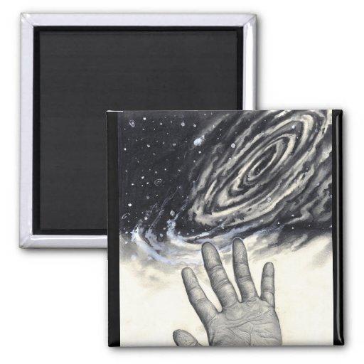 Hand Reaching for the Stars Fridge Magnets
