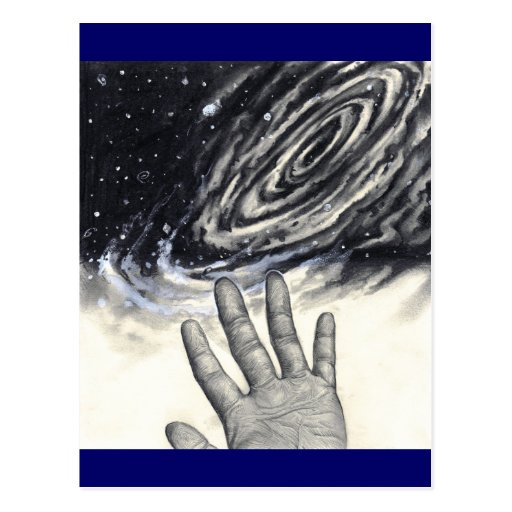 Hand Reaching for the Stars Postcard