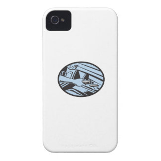 Hand Reaching in Glove Box for Energy Bar Oval Woo Case-Mate iPhone 4 Case